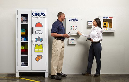 Consistent service schedule and re-fill your first aid cabinets